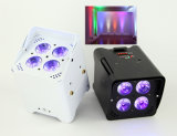 РАВЕНСТВО Uplight батареи СИД 6in1 RGBWA+UV 4PC 18W СИД беспроволочное