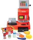電気おもちゃの金銭登録機はセットされる演劇のおもちゃのふりをする(H0009394)