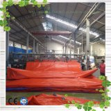 Black&Redの防水プラスチック屋根ふきカバー耐火性のトラックのPEの防水シート