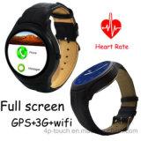 téléphone mobile intelligent androïde de la montre 3G avec le WiFi et le moniteur du rythme cardiaque X1