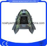 Hecho en barcos inflables del deporte material de China PVC/Hypalon rojo