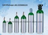Cilindros de oxigênio de alumínio portáteis 1.0L com punhos