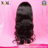 O cabelo humano mergulhou os nós descorados peruca livres/da qualidade agradável humana brasileira da peruca laço do meio/três porções a peruca natural do escalpe