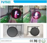 Outdoor P8mm Forme ronde monté sur un mur de l'acrylique signe LED pour Bar