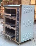 Horno eléctrico profesional de la cubierta del equipo 3-Deck 6-Tray de la panadería