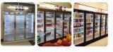 遠隔圧縮機の3つのガラスドアが付いている商業スーパーマーケットの飲料の表示冷却装置