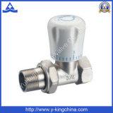 Vanne de chauffage en laiton à l'angle avec la poignée (YD-3007)