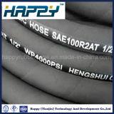 R2 de alta presión de la manguera de aceite hidráulico flexible, manguera de goma
