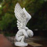 Статуя Hunan большого качества материальная мраморный красивейшего ангела T-6896