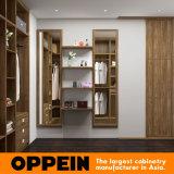 Oppeinの現代メラミンミラー(YG16-M07)が付いている木製の通りがかり戸棚のワードローブ