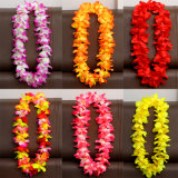 Leis collar de flores hawaianas Hawaii Hula hierba tropical Luau Lei Coronas pulseras de la diadema suministros parte decoraciones para boda en Playa las faldas de vacaciones