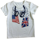 Maglietta 100% del ragazzo del cotone in vestiti dei bambini con la stampa Sqt-602