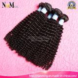 8A加工されていないバージンのインドの深い波のねじれた巻き毛の安い毛の束