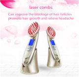 Pilha recarregável USB de alta qualidade Pente Laser de carregamento do couro cabeludo do pêlo de massagem vibratória estimular a máquina de massagem de pêlos da escova