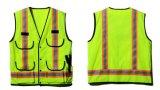 Luster elevado Safety Vest Made de Knitting Fabric com En