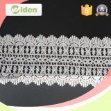 Grid Pattern Lace Overlay Tecido Geométrico Bobbin Chemical Lace