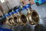C95200 두 배 플랜지 세륨 ISO Wras를 가진 괴상한 나비 벨브는 승인했다
