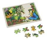 Regenwald-hölzernes Puzzle mit Speichertellersegment (48 PCS)