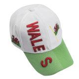 人の女性の綿の調節可能な3D刺繍の野球帽の帽子