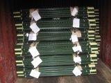 Poste galvanisé/vert de poste clouté en acier américain de T de la peinture T