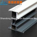 Profil en aluminium enduit de poudre glissant le tissu pour rideaux Windows de Windows