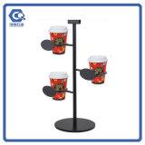 Kaffeestube Couter Spitzenmetallhängende Kaffeetasse-Bildschirmanzeige-Zahnstange