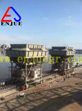 Шанхай Enjue 30cbm 50cbm проложило рельсы установленный передвижной хоппер с системой удаления пыли
