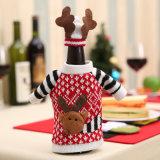 De Reeks van de Fles van Champagne van Kerstmis van de Dekking van de Fles van de Wijn van Kerstmis