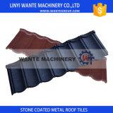 品質の約束の多彩な石の上塗を施してあるアルミニウム鋼鉄屋根瓦