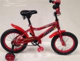 Rotes Farbfernsehen scherzt Fahrrad/Kind-Fahrrad mit Rücksitz-/Träger-Fahrrad für junge Kinder