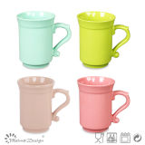 tazza di ceramica 10oz con i colori differenti di figura speciale