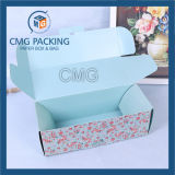 Caixa de papel dobrada do bolo da flor com tampa
