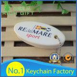 Nombre de encargo Keychain del metal del diseño de la insignia para el individuo