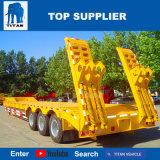 Titan-Fahrzeug-halb niedriges Bett mit hydraulischer Laden-Rampe für Verkauf