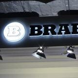 Pubblicità acrilica bianca di marchio dell'automobile della casella LED del segno