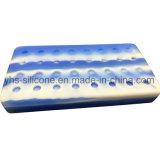 Rectángulo de 50ml silicona portátil el recipiente con 2 separa al por mayor