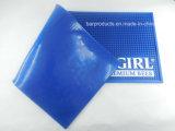De blauwe Mat van de Staaf van pvc van de Kleur met 3D In reliëf gemaakt Embleem
