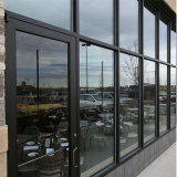 Doble acristalamiento pesada puerta corrediza de aluminio