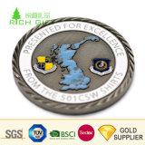 卸し売り中国の安いカスタム金属の骨董品のニッケルによってめっきされる古いコピーはダイヤモンドの端との50pを鋳造する