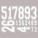 Пользовательский экран Печать Plastisol футбола Джерси номер передачи тепла
