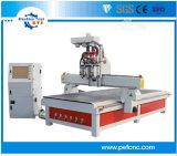 Die meiste bequeme vier Workstages Holzbearbeitung CNC-Fräser-Maschine mit staubfreiem Kasten