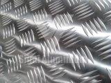 AA5052 vijf de Staven In reliëf gemaakte Geruite Plaat/het Blad van het Aluminium voor Dek
