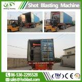 Huaxing ISO-Gleisketten-Granaliengebläse-Maschine, verwendet für Gießerei-Fabrik, Bremsbelag-Herstellungs-Granaliengebläse-Maschine