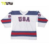 卸し売り 100% ポリエステルの注文の設計チーム米国のホッケーの Jerseys