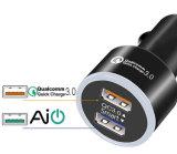 QC 3.0 автомобильного зарядного устройства USB прилегание Dual Port 3A выход для iPhone iPad Samsung и более