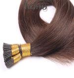Producten van het haar plakten pre Bruin Menselijk Haar I van 18 Duim Uiteinde