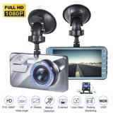 1080P 4 pouces à écran tactile Tableau de bord avant et arrière de l'appareil photo voiture DVR avec Night Vision G-Sensor Caméra de recul