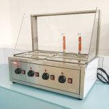 Commercial Desktop Restaurant roestvrijstalen glazen kap 4 pannen Elektrisch Bain Marie voor voedselverwarmer