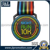 Design do cliente 10k Running Medal Black Nickel Finish