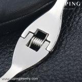 Brazalete Platino-Plateado joyería simple del acero inoxidable de la CZ de 51531 maneras para las mujeres